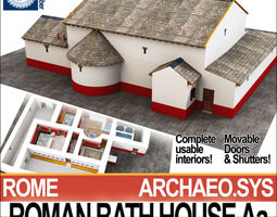 3D model Roman Bath House Aa