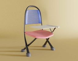 3D asset School Study Chair