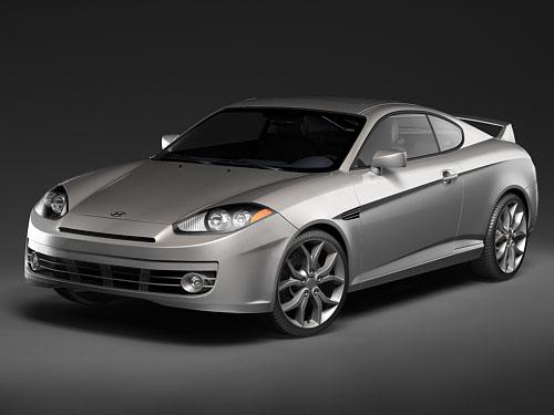 Hyundai Tiburon Coupe 2008 3D Model