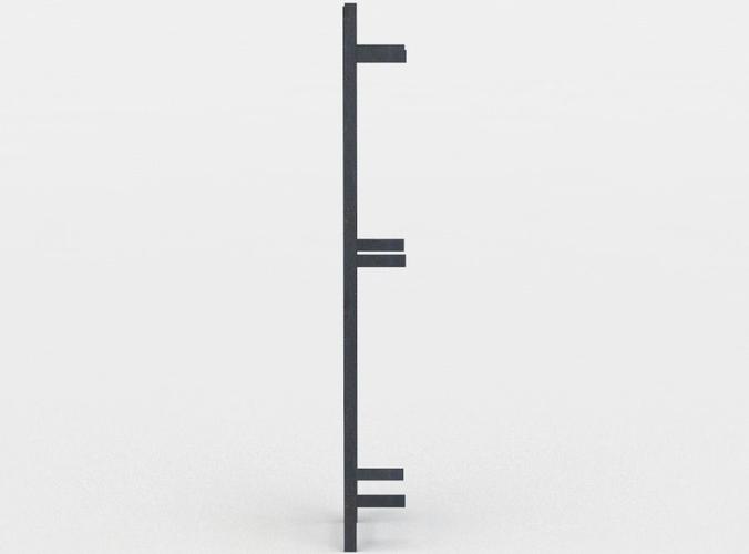 ladder 3d model low-poly obj mtl fbx lwo lw lws dae X u3d 1