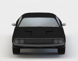 3d asset realtime black car