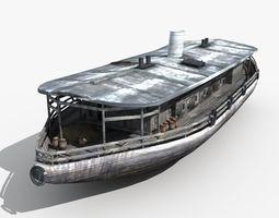 Old Cargo Ship 03 3D