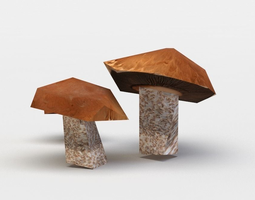game-ready red mushrooms 3d asset