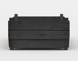 game-ready wooden storage 3d asset