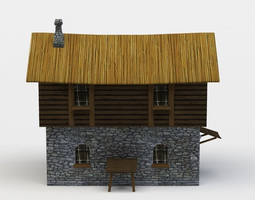 game-ready house 3d model