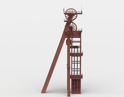 shaft tower 3d model VR / AR ready