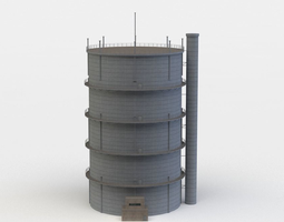 gas tower realtime 3d model