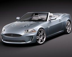 Jaguar XKR Convertible 3D Model