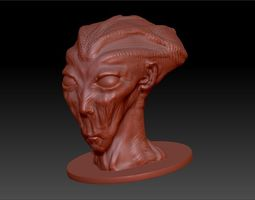 3d printable model zoltar the alien