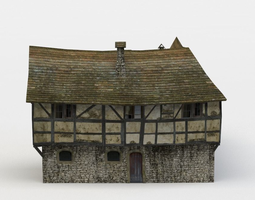 3d model VR / AR ready corner house