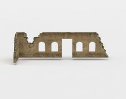 3D model Wall ruins