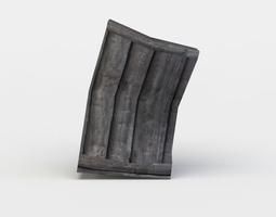 Damaged shelf 3D model