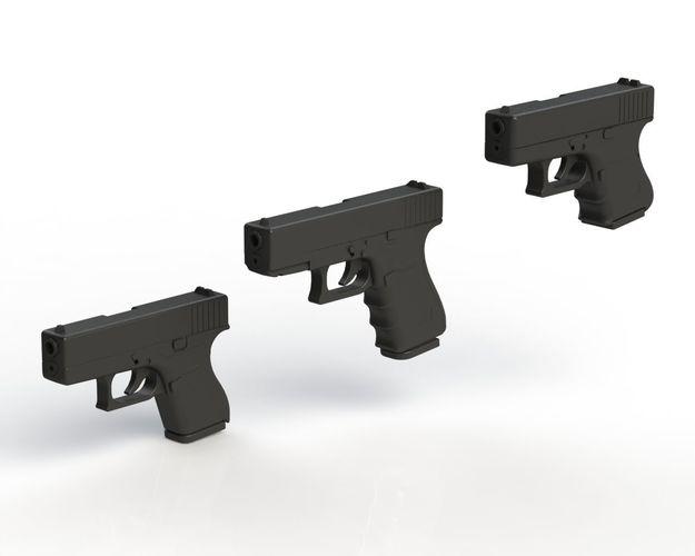glock pack 1-1 scale 3d model stl sldprt sldasm slddrw ige igs iges wrl wrz pdf 1