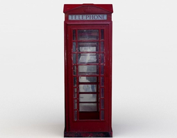 Telephone booth 3D asset