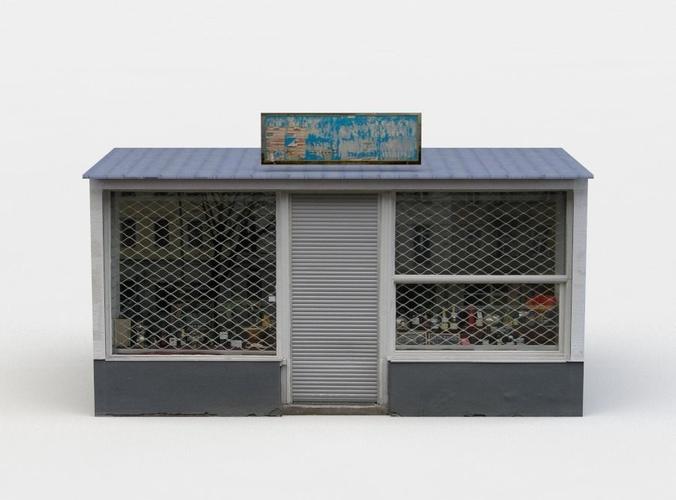 kiosk 3d model low-poly obj mtl fbx c4d lwo lw lws dae X 1