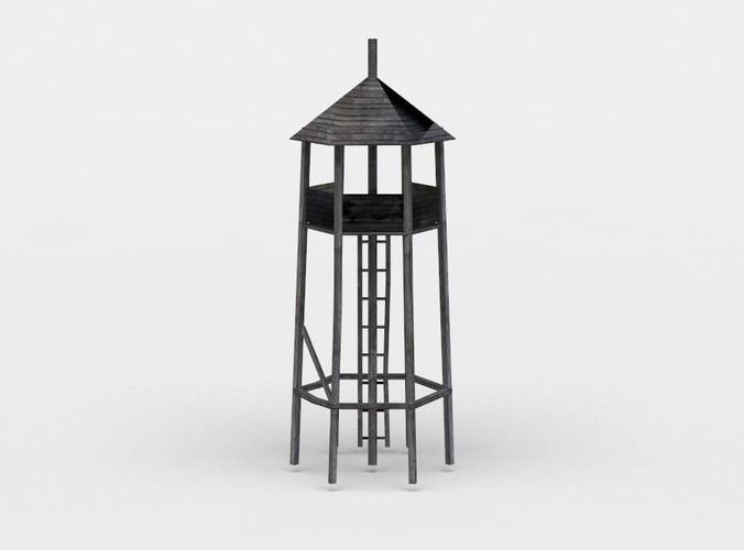 hunting tower 3d model low-poly obj mtl fbx c4d lwo lw lws dae X 1