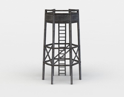 Hunting tower 3D model realtime