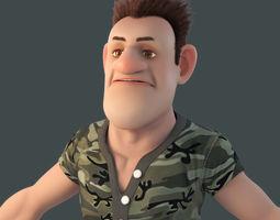 people Cartoon Man 3D model