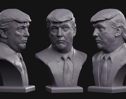 Donald Trump bust 3D printable model
