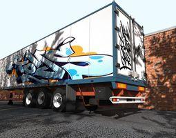 3D The truck trailer