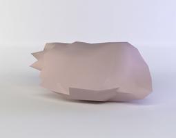 3d model low-poly pink rock3