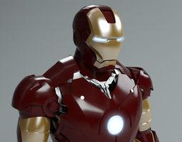 iron man mark 3 3d model max obj fbx ma mb blend