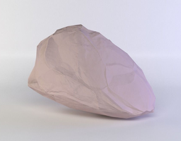 game-ready pink rock 3d model