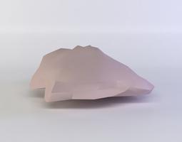 low-poly 3d asset pink rock6