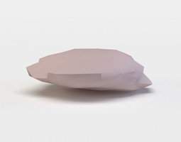 3d asset low-poly pink rock