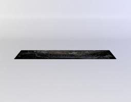 black decal1 3d asset VR / AR ready