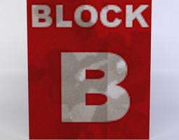 white block VR / AR ready 3d model