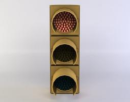 3d asset realtime traffic light