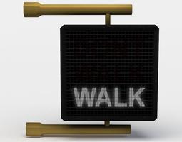 pedestrian crossing ligh 3d asset realtime