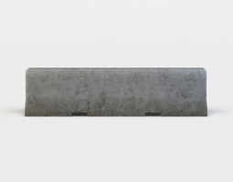 concrete barrier game-ready 3d model