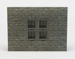 realtime wall tombs 3d asset