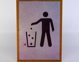 3d asset realtime waste sign