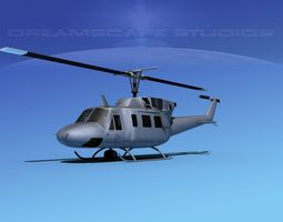 Bell UH-1N Twin Huey Marines 3D Model