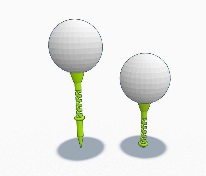 Springy Golf Tee 3D Model 3D Printable .stl