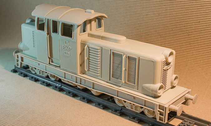 Diesel Locomotive That Will Fit Lego Track    3d Model 3d