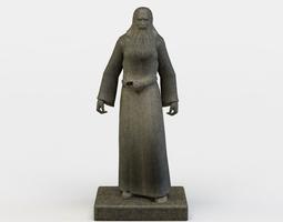 game-ready 3d asset wizard statue