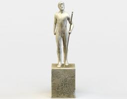 statue realtime 3d asset