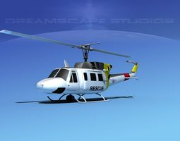 Bell UH-1N Philippines Air Force 3D Model