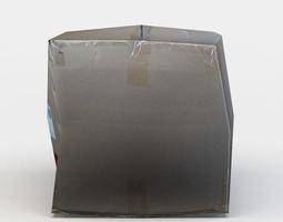 3d asset realtime cardboard box