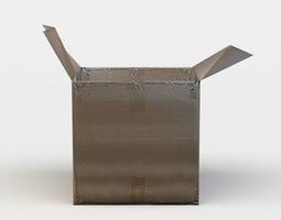 realtime cardboard box 3d model