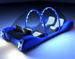 Futuristic Maglev Car 3D Model