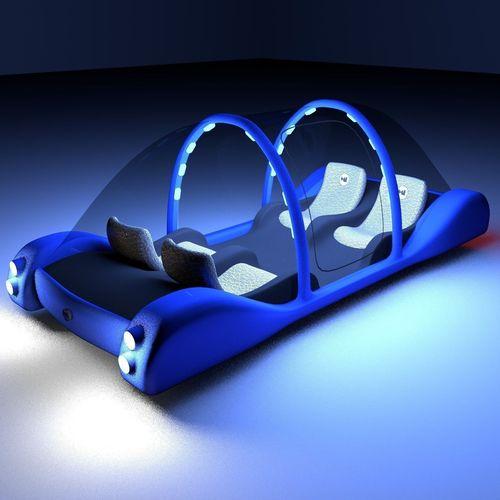 Futuristic Maglev Car3D model