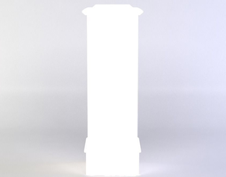 3d asset VR / AR ready white column