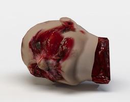 zombie head 3d model low-poly