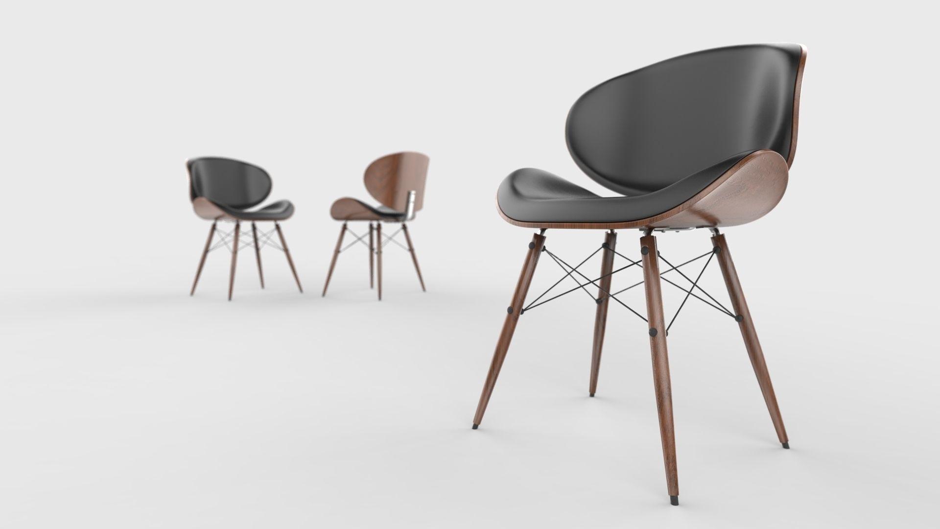 Mid century modern chair 3d model