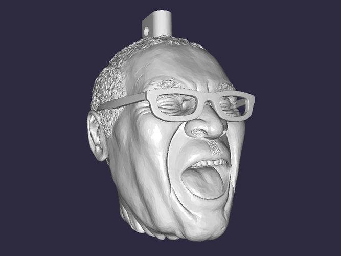 robert mugabe laughing head keychain key-fob 3d model obj mtl 1